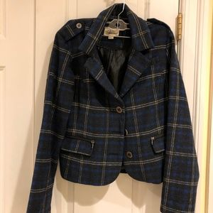 Forever 21 Cropped Plaid Jacket